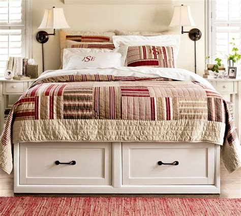pottery barn stratton bed stratton storage bed with drawers