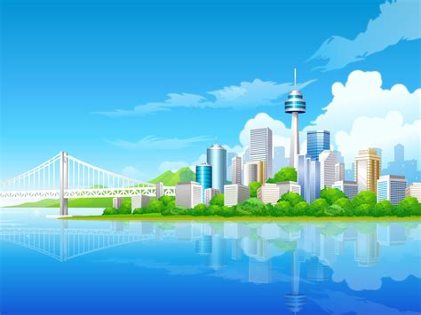 pc themes build blue city wallpaper vector 3d wallpapers in jpg format for