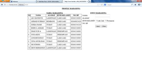 membuat web service sederhana dengan php membuat form inputan sederhana dengan php dan mysql info