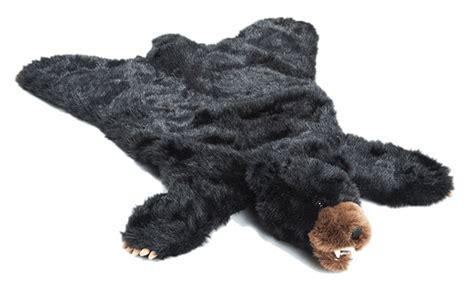 Stuffed Rug by Black Plush Rug Large Carstens