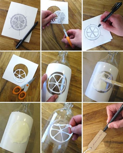 etching glass diy diy etched glass bottles for limoncello