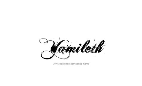 yamileth name tattoo designs