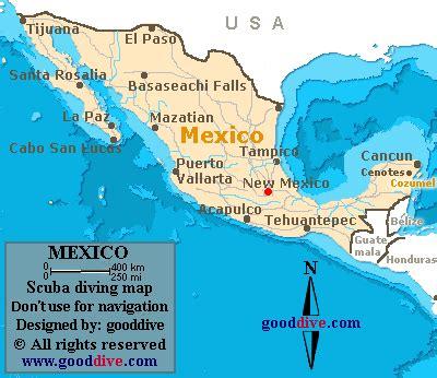 mexico map  gooddive.com
