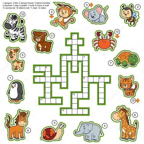 fotos animales juegos crucigrama de vector color juego de la educaci 243 n sobre