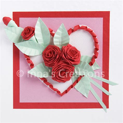 Folded Paper Roses - inna s creations how to fold a quilling
