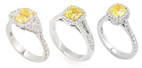 Yellow Diamond Engagement Rings Leibish