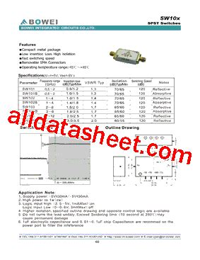 bowei integrated circuits co ltd sw101 datasheet pdf bowei integrated circuits co ltd