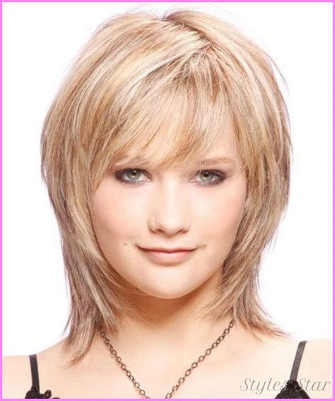 women short hairstyle fat face thin hair short haircuts for women with round faces over