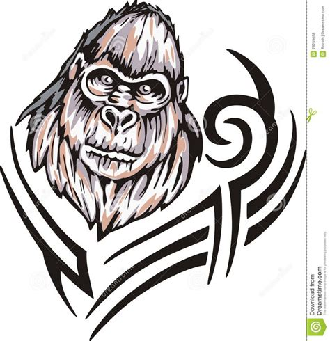 tribal gorilla tattoo pictures to 21 best gorilla tattoos illustrations images on