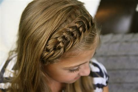 cute girl hairstyles headband twist the knotted headband back to school hairstyles cute
