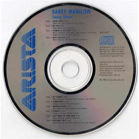 swing street swing street barry manilow free mp3 download full tracklist