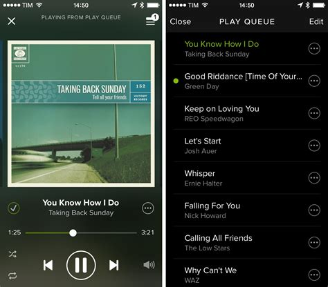 Search For On Spotify Spotify For Iphone Adds Alphabetical Sorting Play Queue Management Macstories