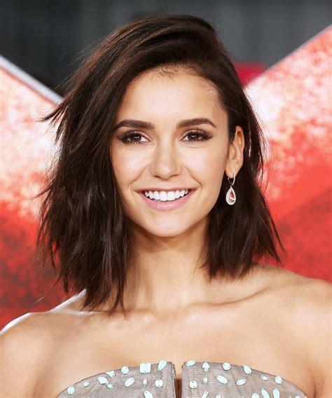 nina dobrev cut off her hair into lob instyle com