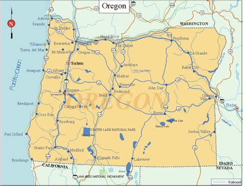 oregon state map maps of oregon state