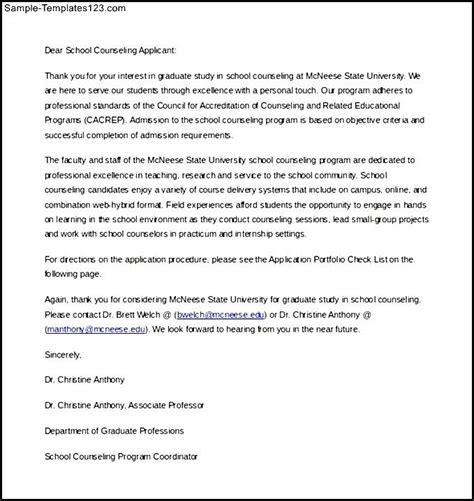 Parent Letter Of Intent Sle Letter Of Intent School Counselor Template Word Editable Free Sle Templates