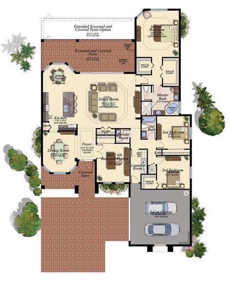 wet bar floor plans the bellagio open great room home design with wet bar