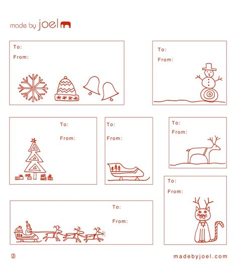 Present Labels Templates Printable Christmas Gift Tags Perhaps Try Printing On