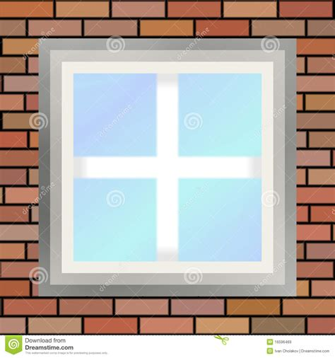 Glass Wall House by Square Window Stock Illustration Image Of Brick House