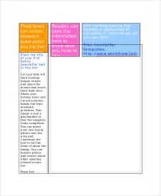 family newsletter template sle family newsletter template 9 free documents