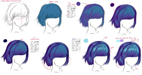 how to shade hair how to draw hair by ryky on deviantart