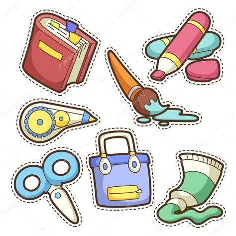 imagenes de utiles escolares coloreados conjunto de escuela conjunto de art 237 culos escolares