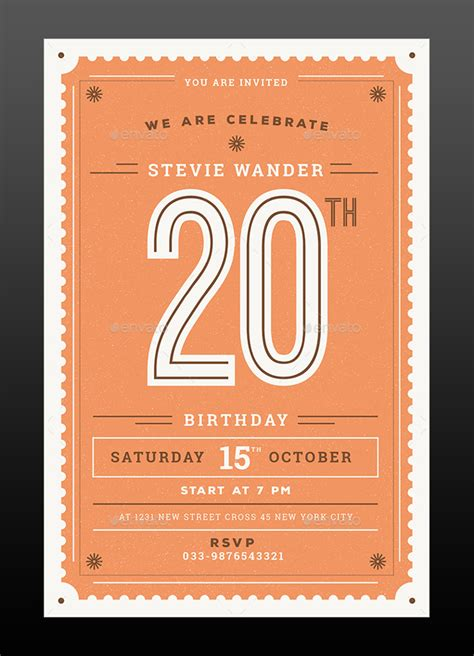 17 free birthday invitation templates psd designyep