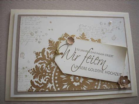 Goldene Hochzeit Einladung by Einladungskarten Goldene Hochzeit Basteln