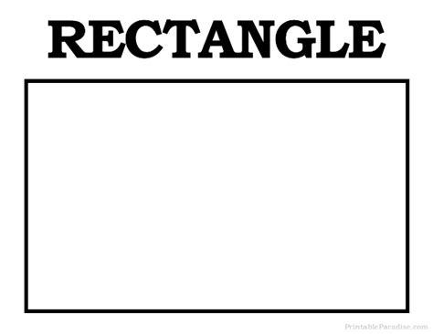 Printable Rectangle Shapes   printable rectangle shape print free rectangle shape