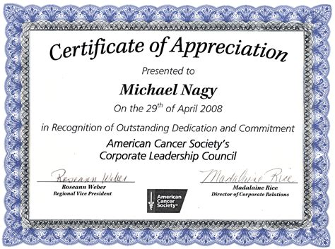 certificate of appreciation samples pdfs