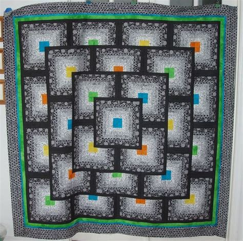 Thinking Outside The Box Quilt Free Pattern by Thinking Outside The Block By Toadusew Black And White
