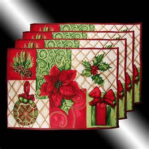 set rare red christmas poinsettas tapestry cushion covers