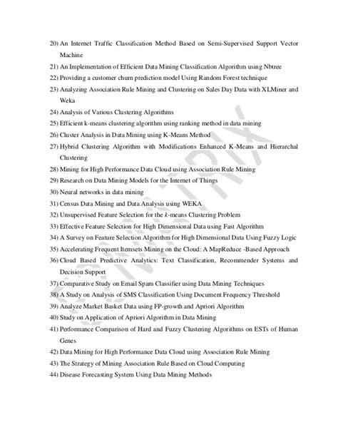 Data mining ieee-project-topics-list