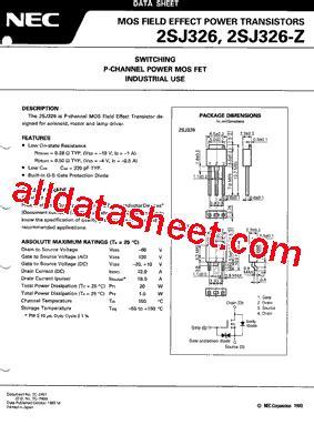326 transistor datasheet 2sj326 datasheet pdf nec