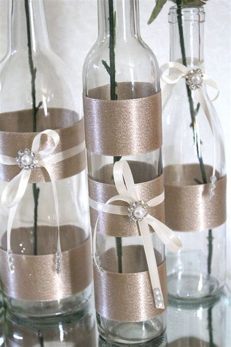 decorated wine bottles wine bottle centerpieces and