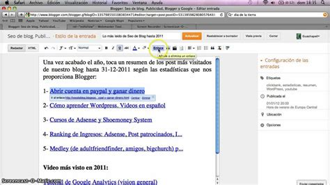 youtube blogger tutorial como hacer un blog en blogger con enlaces nofollow o sin