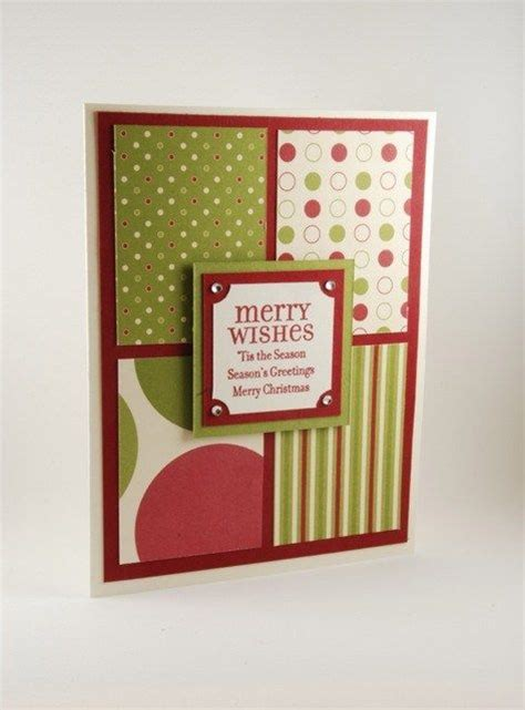 Merry Handmade Cards - merry wishes and more on this handmade card