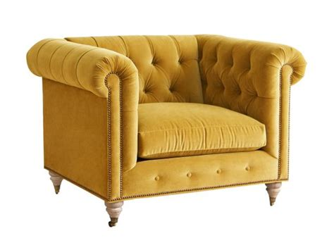 yellow velvet armchair photo page hgtv