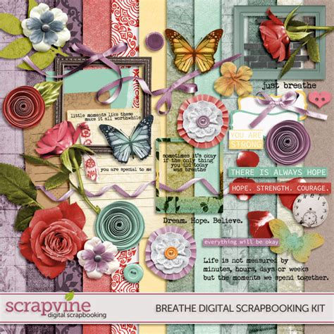 Digital Scrapbooking Wiki Launches 3 by Breathe Digital Scrapbooking Kit 187 Scrapvine