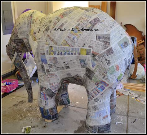 How 2 Make Paper Mache - tutorial on how to make paper mache elephant almost