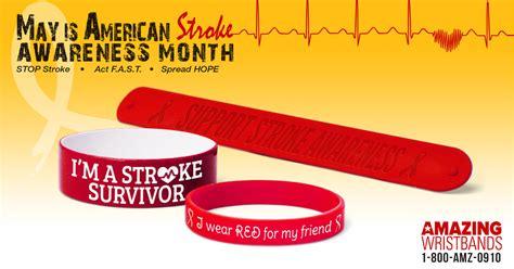 stroke awareness color silicone wristbands for stroke awareness design