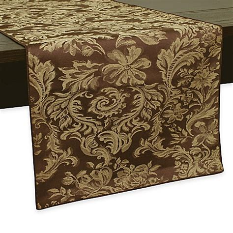 54 inch table runner buy miranda damask 54 inch table runner in chocolate from