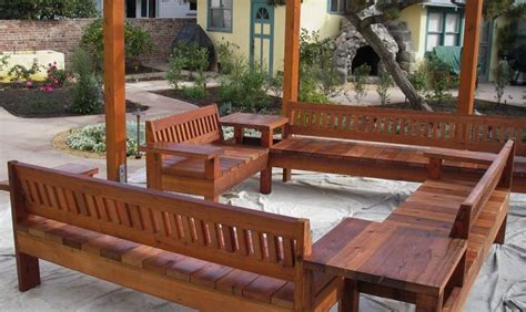 redwood furniture outdoor sectional plans wooden