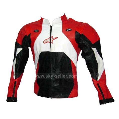 red and black motorcycle jacket red and black unisex leather motorcycle jacket