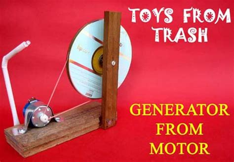 how to produce electricity from dc motor toys from trash