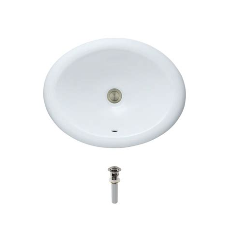 overmount bathroom sink mr direct overmount porcelain bathroom sink in white with