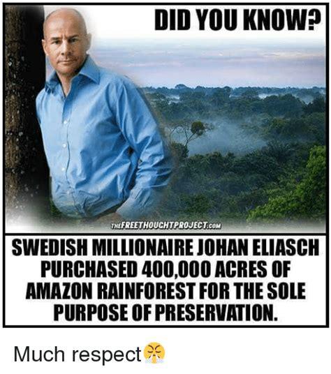 Swedish Meme - did you know thefreethouchtprojectcom swedish millionaire johan eliasch purchased 40000o acres