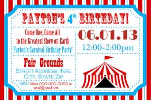 birthday invites how to make carnival birthday party