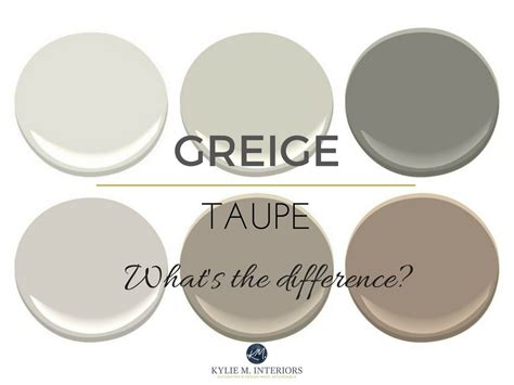 taupe and greige what s the big difference