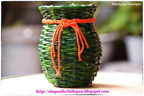 membuat vas bunga dari kertas koran dunia info