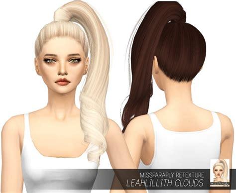 sims 4 custom content hair sims 4 hairs miss paraply leahlillith s clouds hair